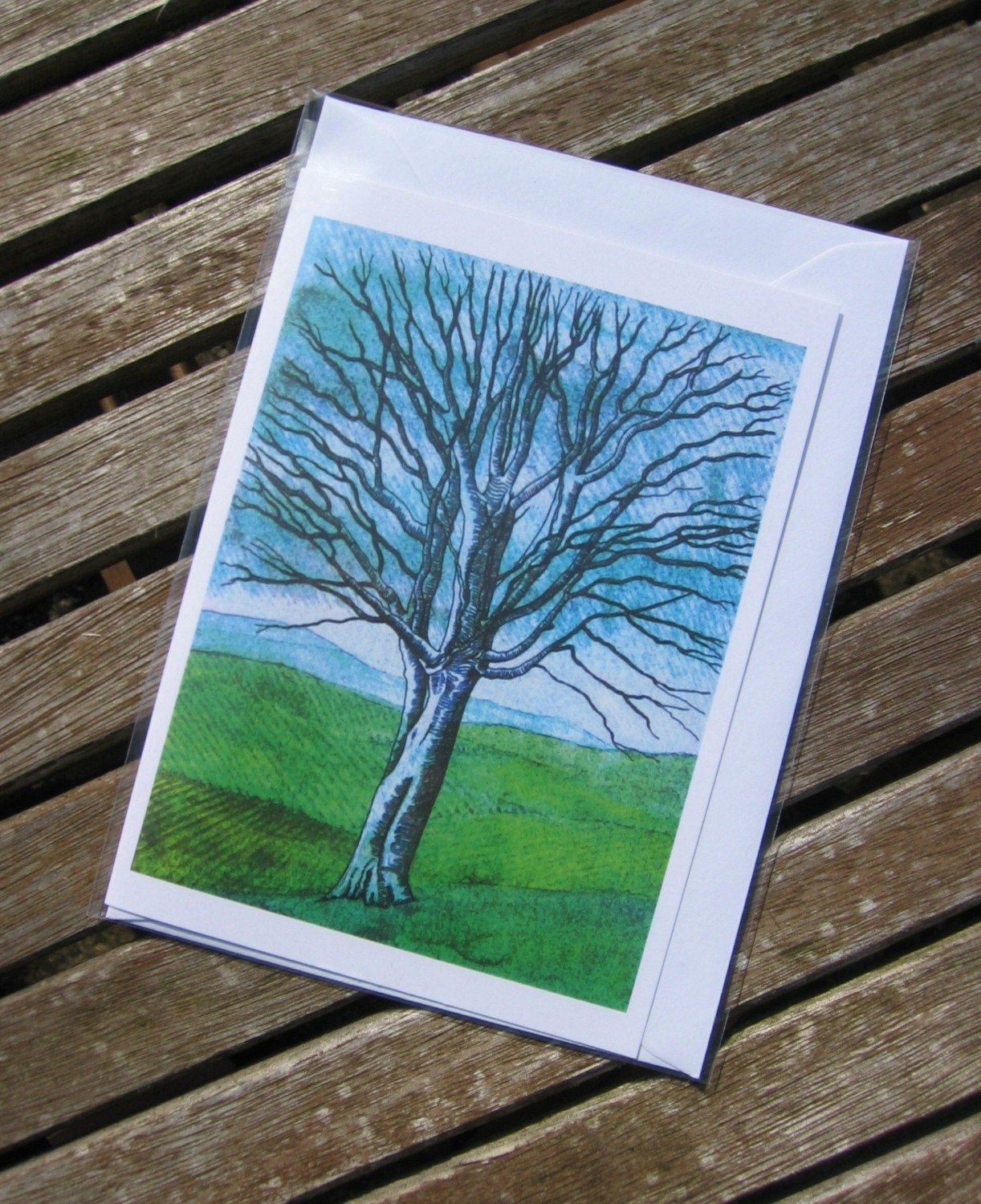 Greeting Card - Ghost Tree