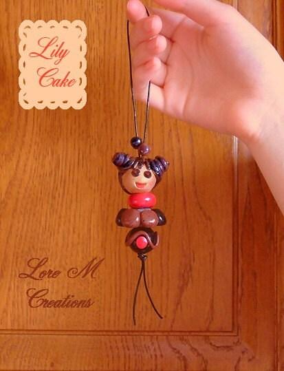 Chocolate doll : Lily Cake (handmade) / Poupée bijoux Lily cake chocolat - fait main - Lore M's creation