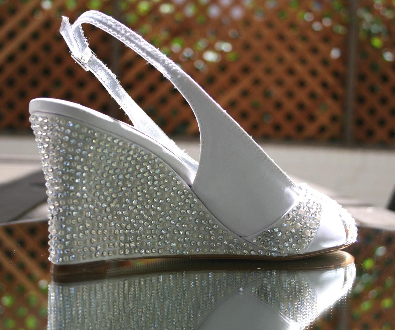 Items Similar To Wedding Shoes Ivory Wedding Wedges With Ivory