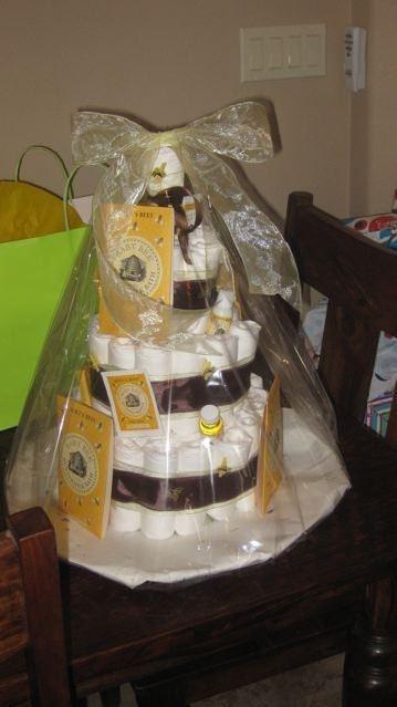 Burt's Bees Diaper Cake 3 Tier