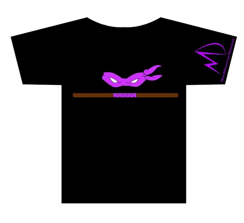 TMNT Teenage Mutant Ninja Turtles Donatello Weapon Tshirt