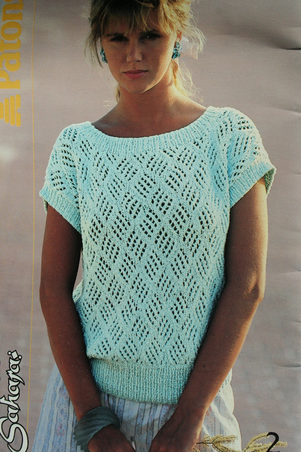 Knitting Designs For Ladies : Sweater knitting patterns summer women vintage cotton by