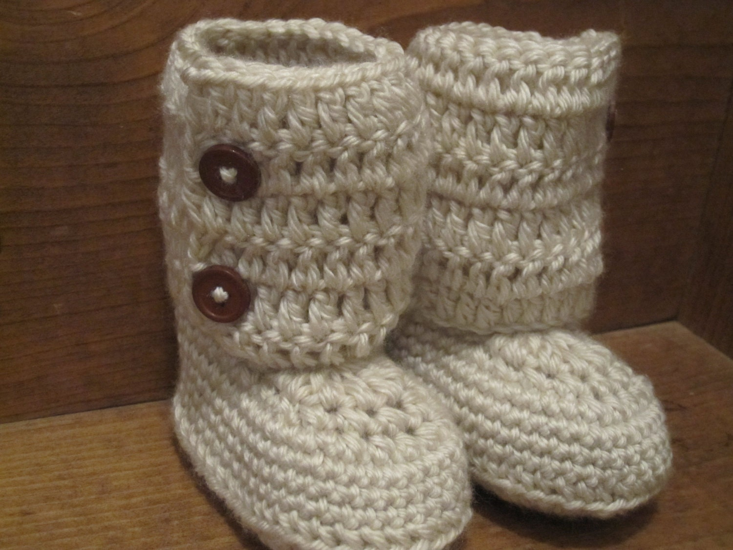 Crocheting Booties : Crochet Geek - Crochet Baby High Top Bootie - YouTube