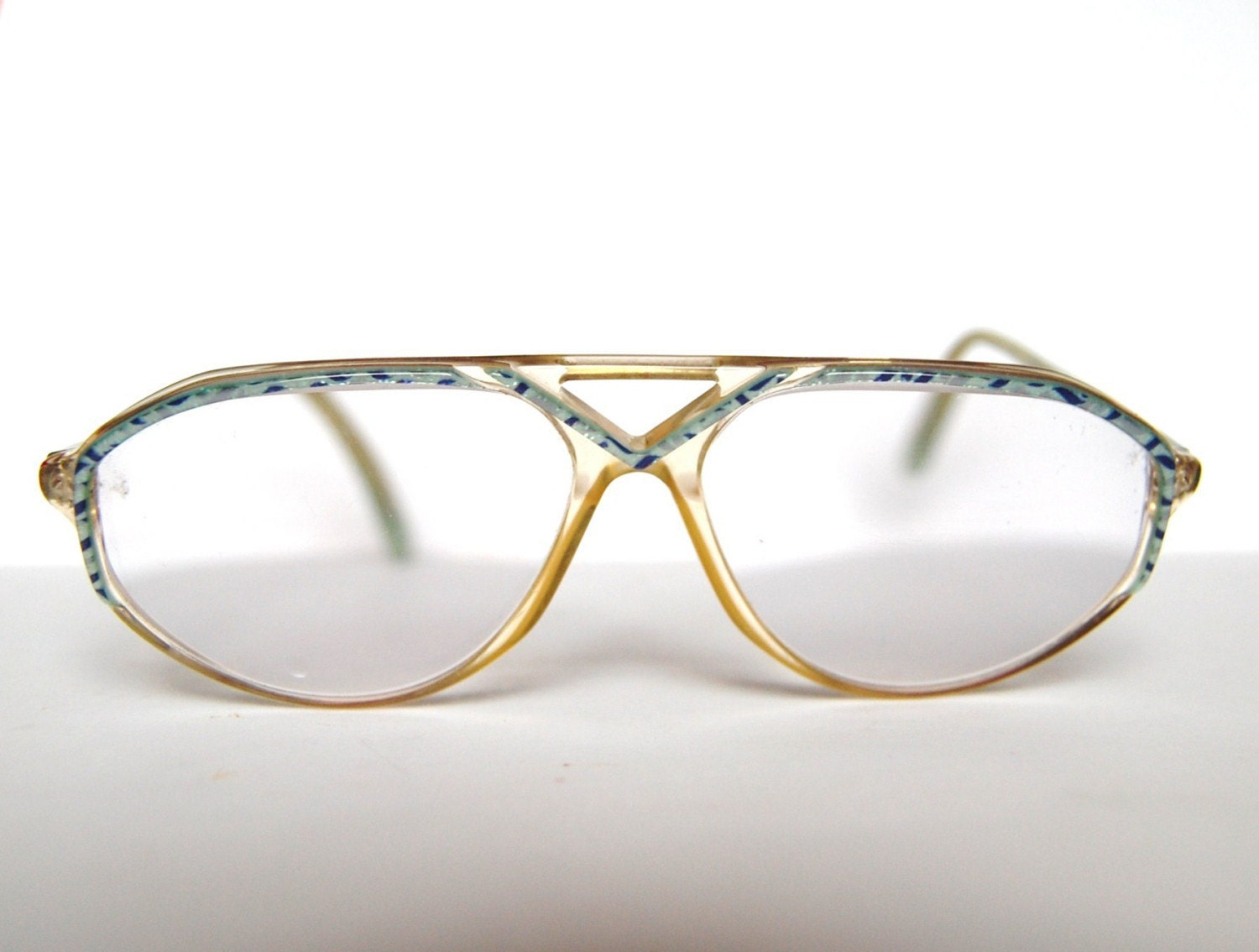 Vintage eyeglasses from Germany in blue colors by RetroEyewear
