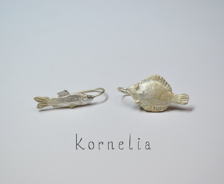 Fish Earrings Silver - korneliaShop