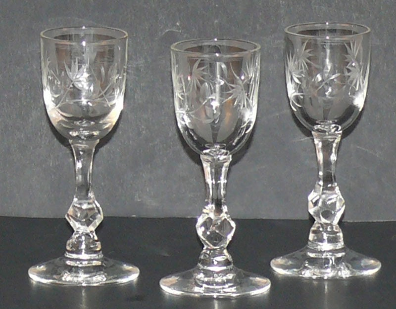 Crystal Cordial Stem Glasses