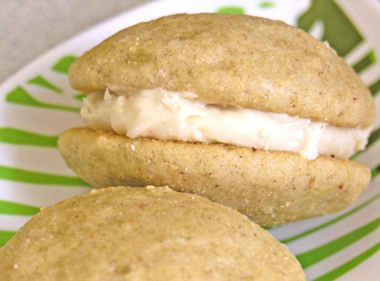 Vegan Lemon EVOO Tea Cake Wookies With Cream Cheese Filling Frosting - Six Wookies
