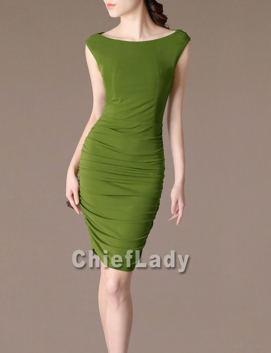 Fashion party dress green dress ele gant evening dress wedding dress