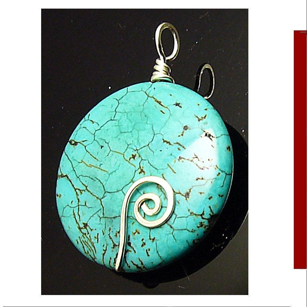 Etsy :: Turquoise stone wirework pendant id1060688