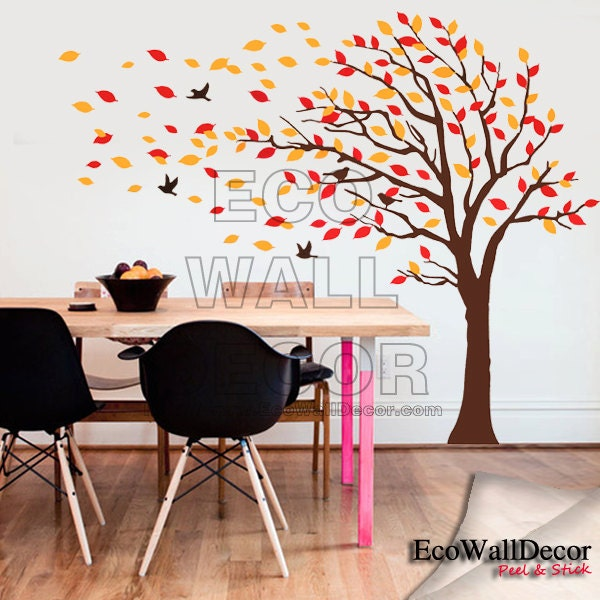 Popular items for autumn trees on etsy for Autumn tree mural