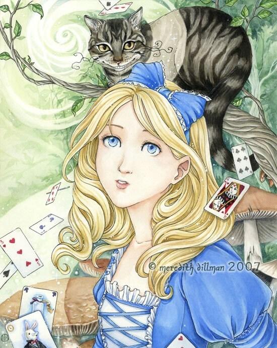 Alice in Wonderland 8x10 print