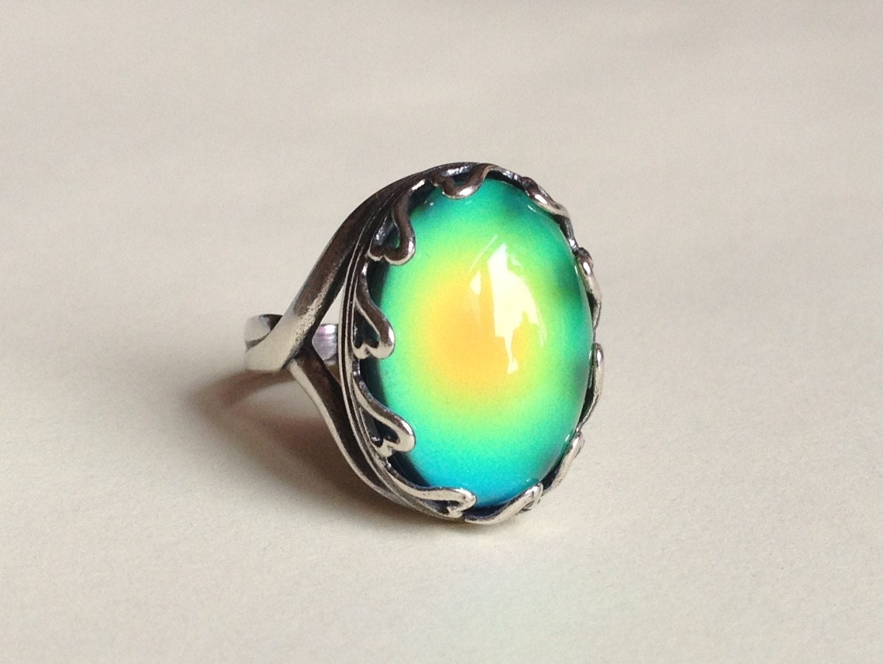 mood ring sterling silver 925 antique 18x13 mm high by everise