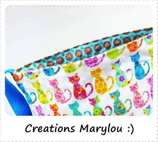 "Medium Knitting Bag ""Le baluchon"" Included : mini scissors"