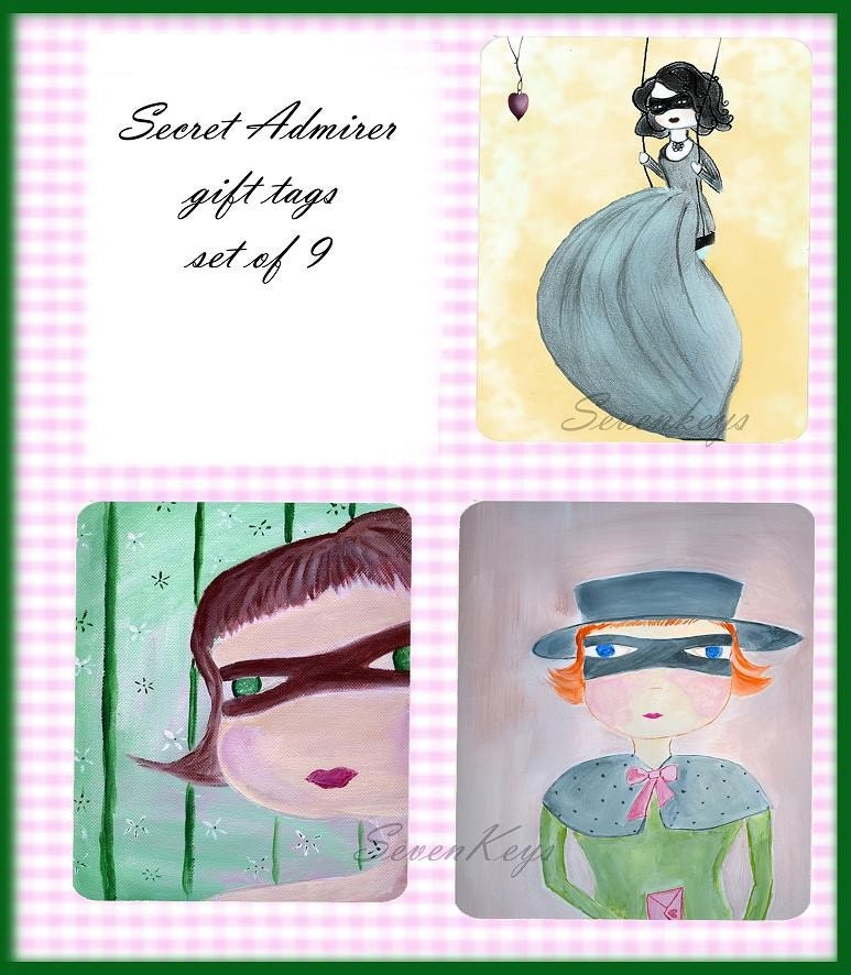 Secret Admirer gift tags - set of 9