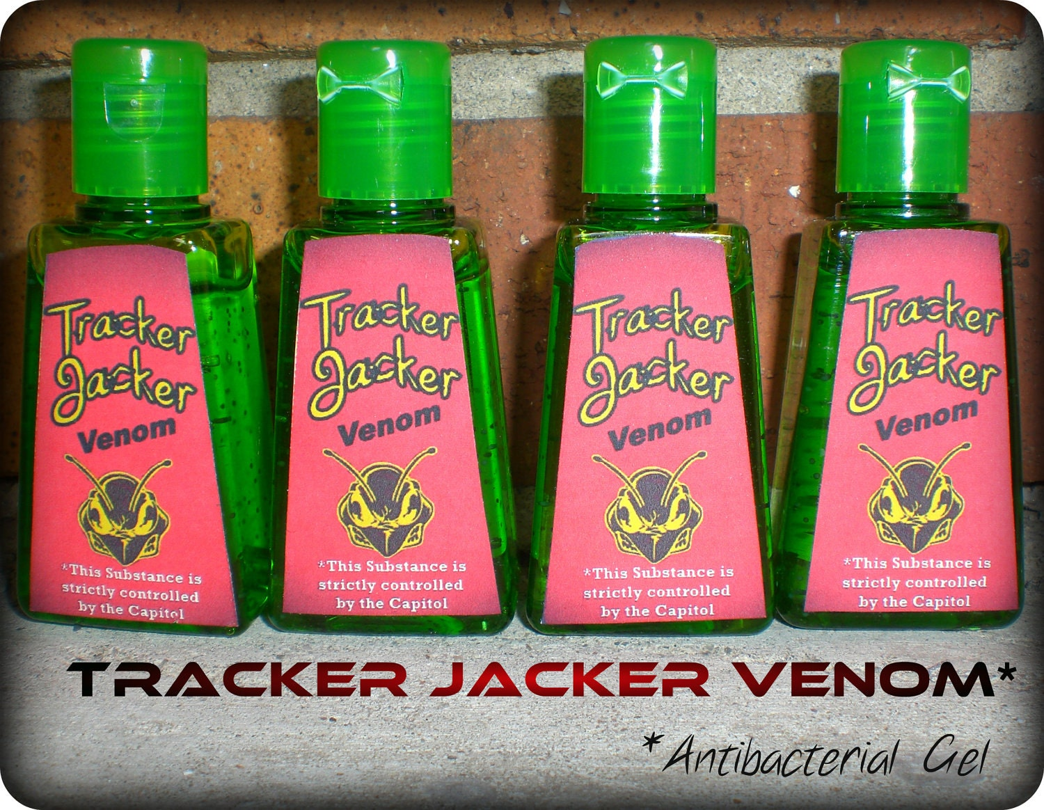 "Four ""Tracker Jacker Venom"" Hand Sanitizer Inspired By The Hunger Games"