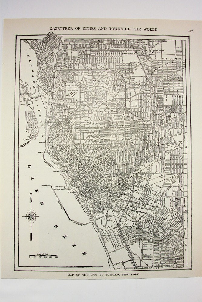 new york city map black and white. 1914 New York - Antique United