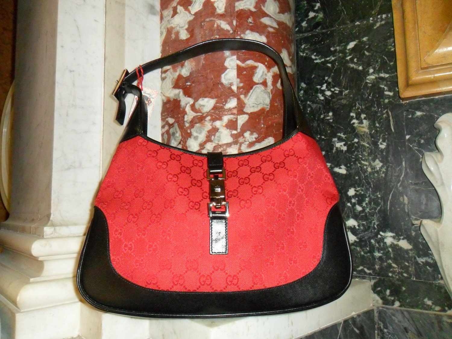 GUCCI Jackie&39;O vintage red/black handbag