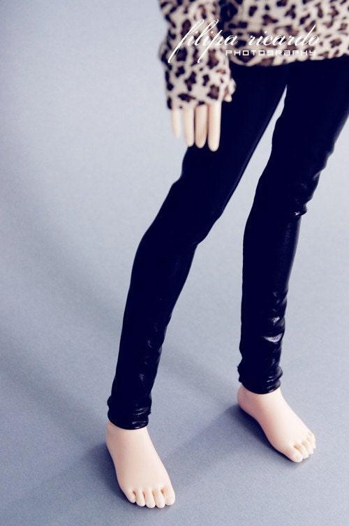 msd, bjd, doll, wet look, leggings