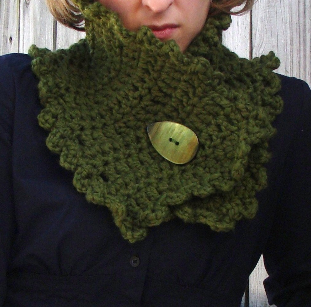 Olive Green Scarf Warmer