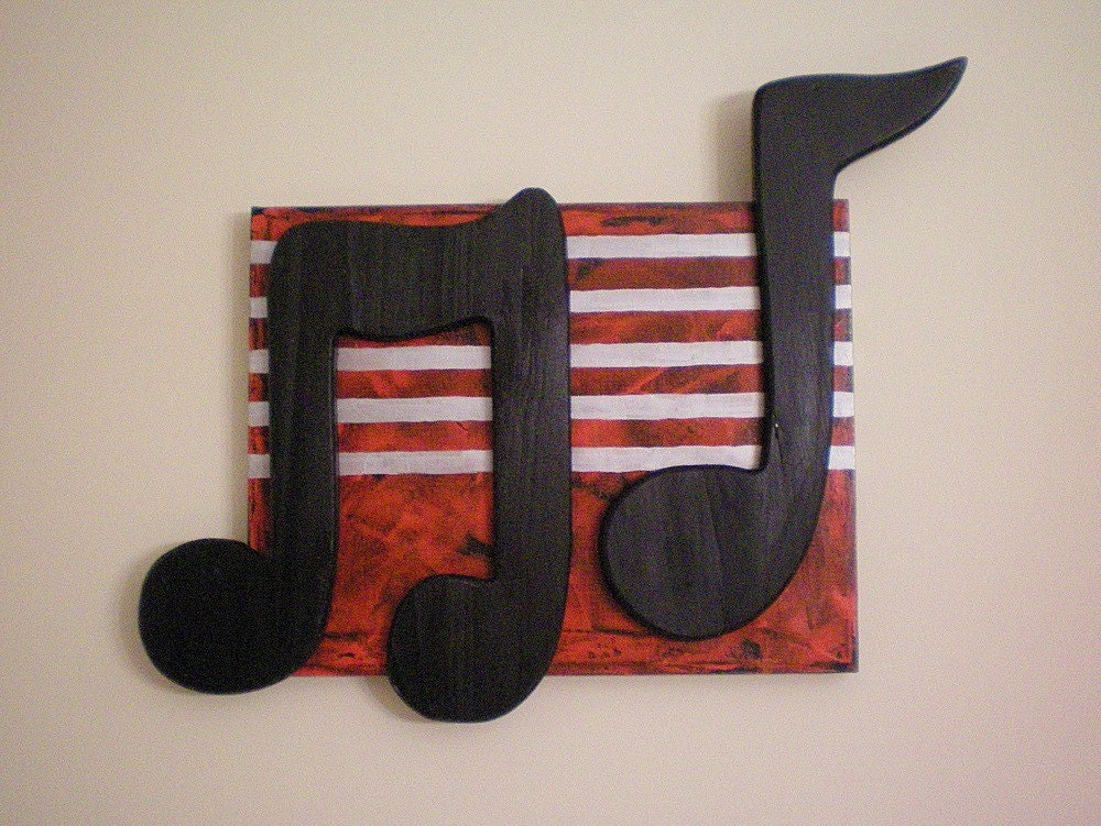 Music Notes Part III ORIGINAL 11X14