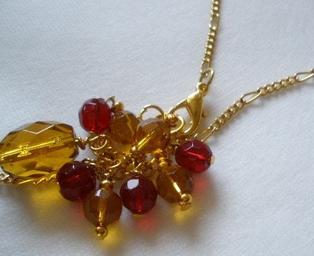 Crimson and Gold Spirit Necklace