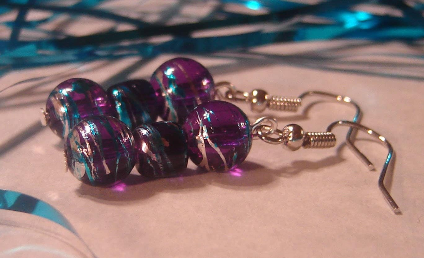 Funky Purple Earrings