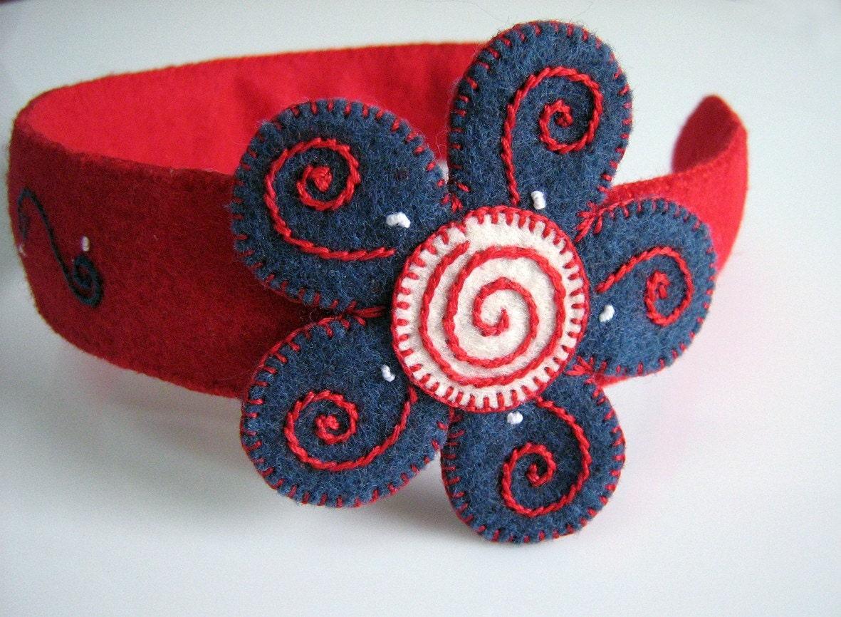 Flower felt headband