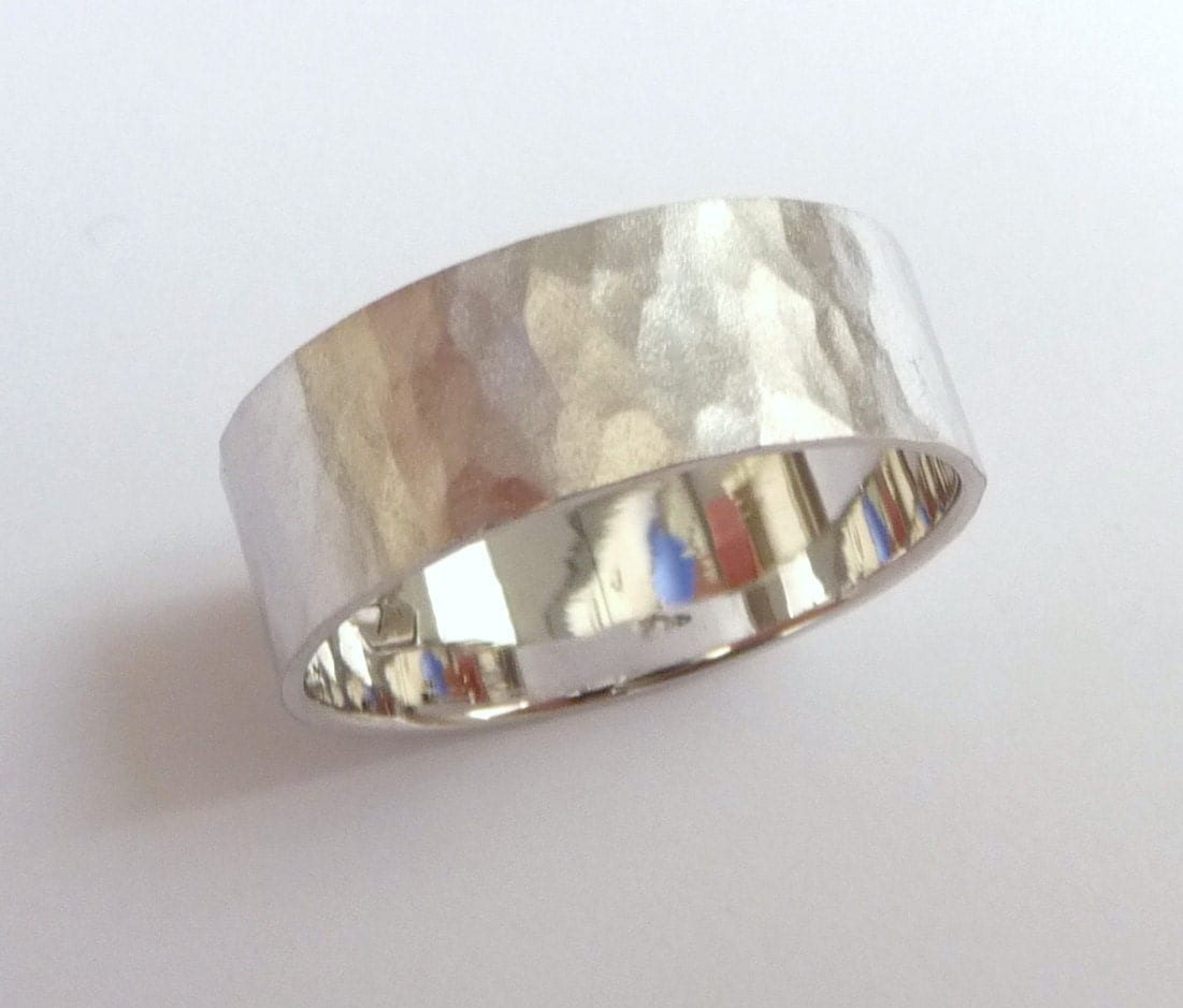 White Gold Wedding Band Women And Mens Wedding Ring By Havalazar