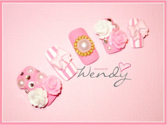 Royal Hime Gyaru Princess Nails