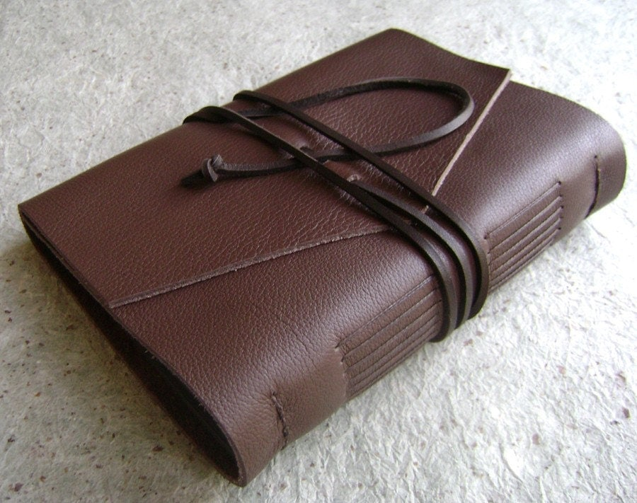 Handmade Leather Photo Album/Scrapbook/Photo by DancingGreyStudio from etsy.com