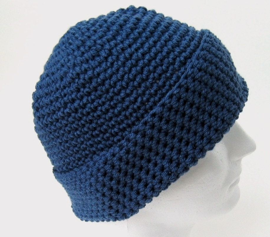 Crochet Pattern Beanie Hat Men Women Teen ONE by ...