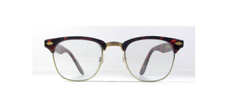 tortoise shell clubmaster eyeglasses vintage by sunnyspex