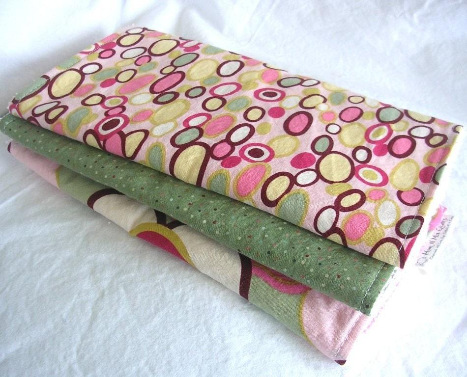 Boutique Burp Cloth Set - Kleo - Set of 3 coordinating burpies