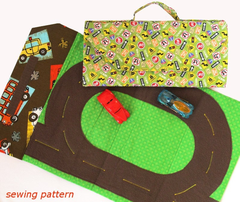 Toy Car Track And Tote Play Mat Immediate Download By