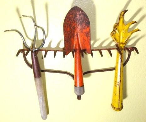 Vintage Garden Tools Rustic Organizer Fall By Bluebonnetfields