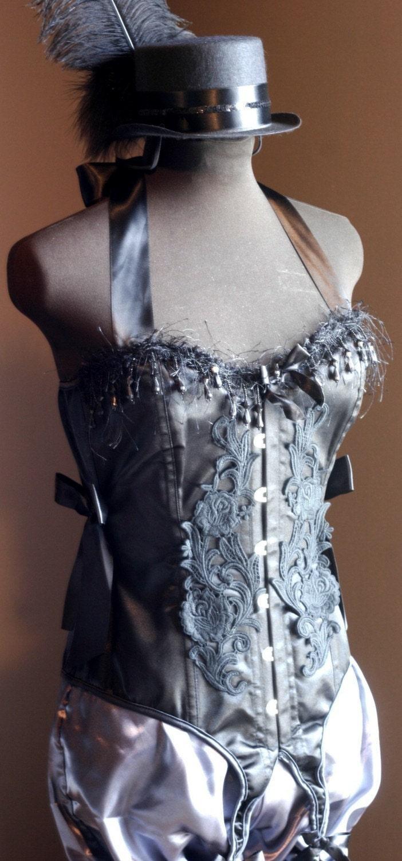 COTTONMOUTH- Gothic Burlesque Corset Costume  Black STEAMPUNK