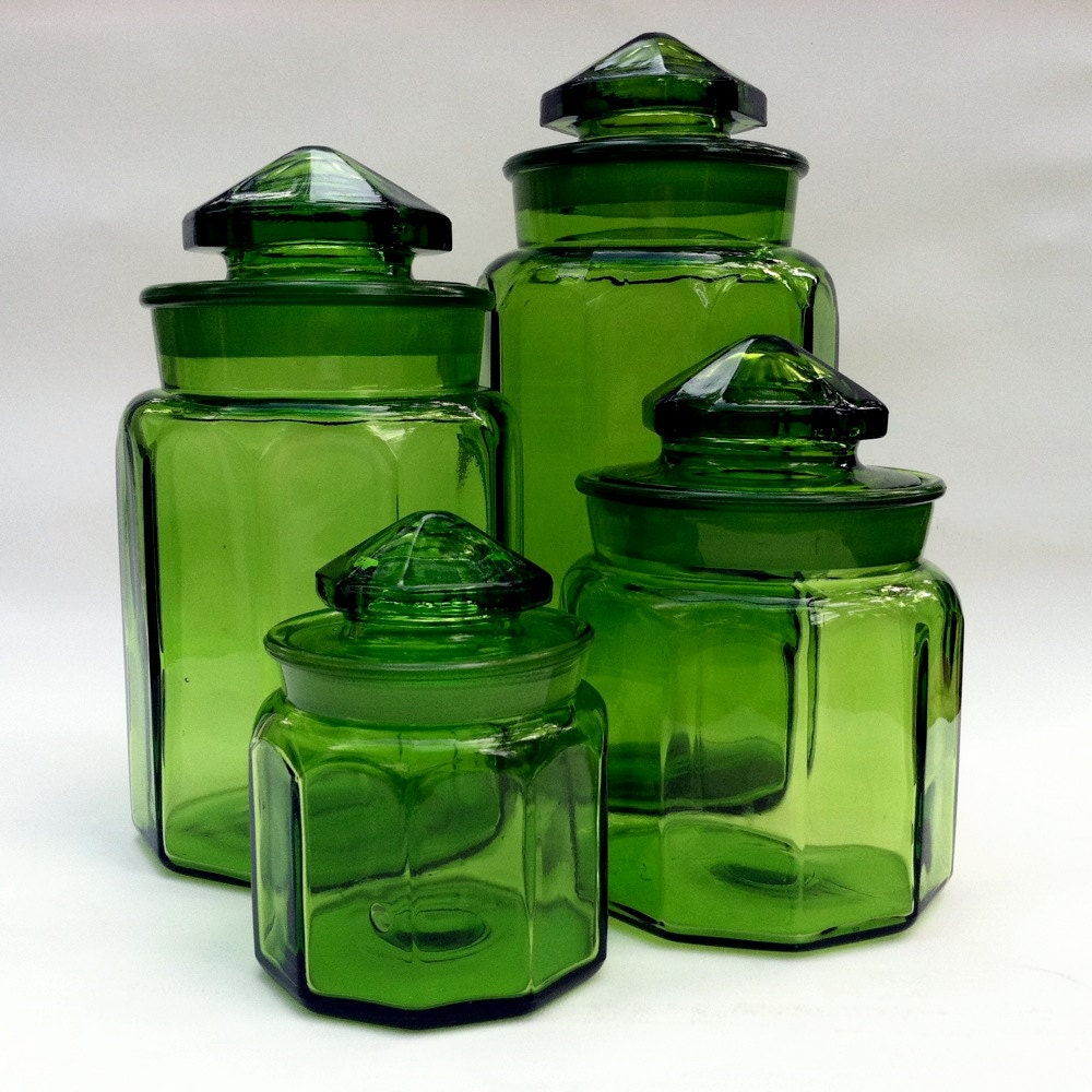 Vintage L E Smith Glass Canister Large Size Only By Brigidsfancy