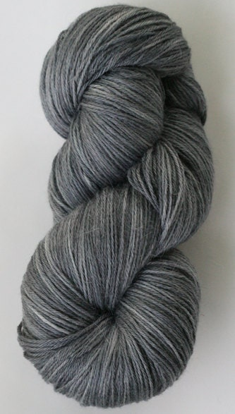 "Serenity is...soft and silky. ""Gunmetal"" on Alpaca/Silk DK"