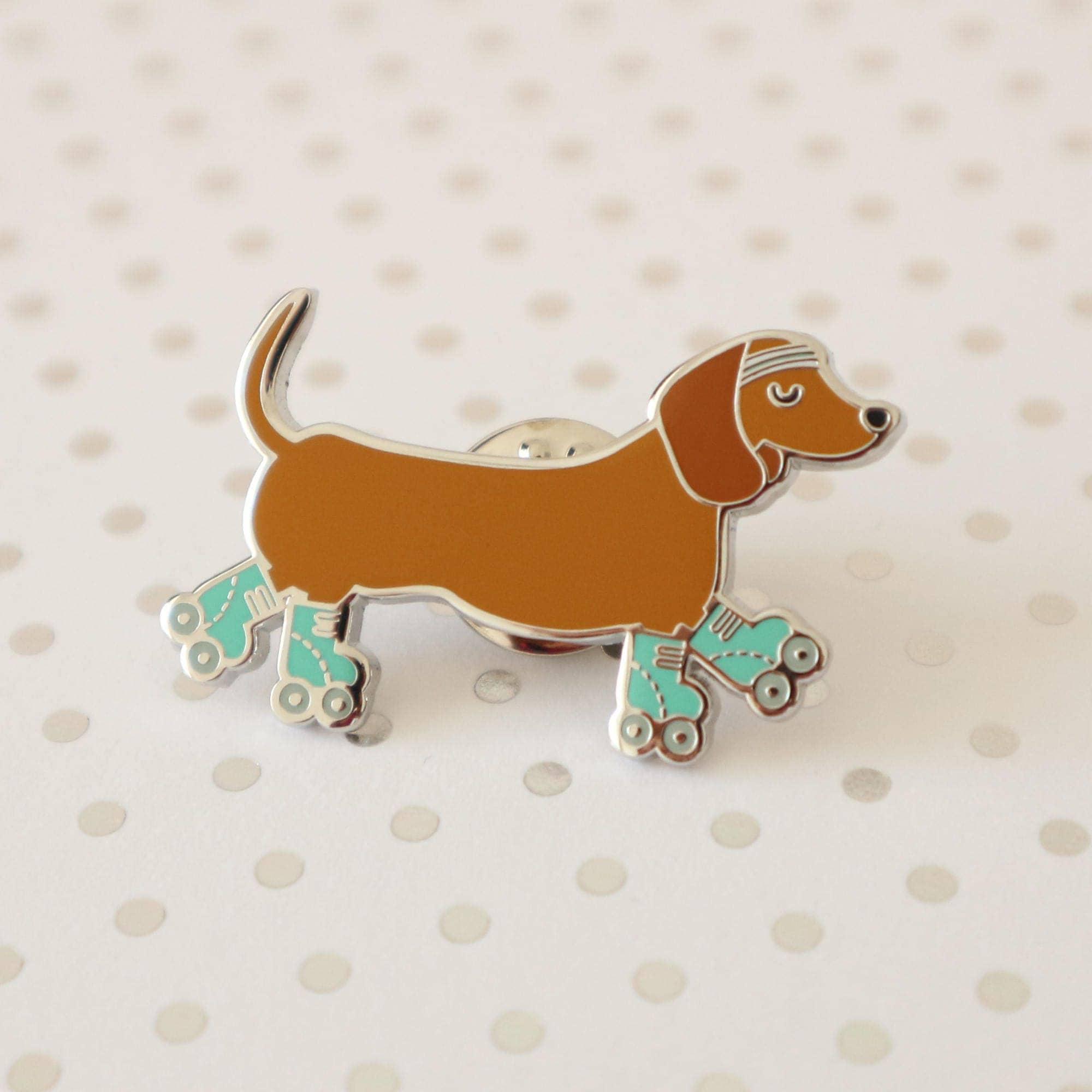 Sausage Dog  Dachshund  Dog Hard Enamel Pin Badge Flair Lapel Pin