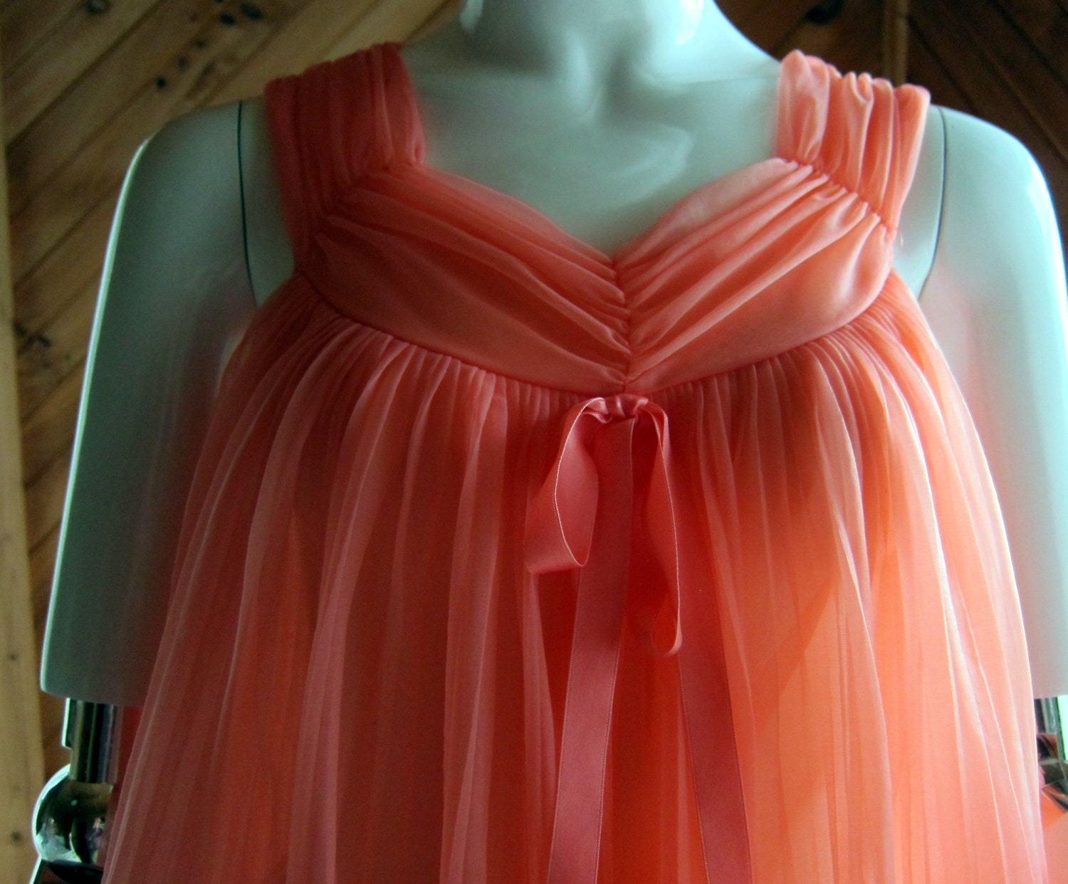 1960s Baby Doll Nightie Nightgown Vintage By