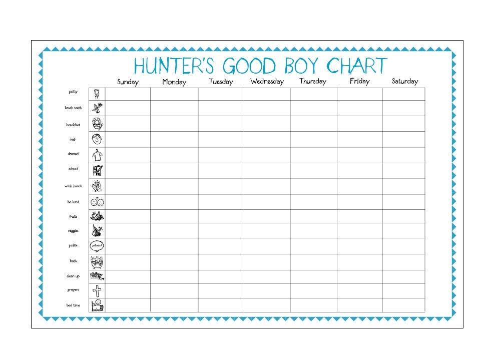 Good Boy Charts New Calendar Template Site