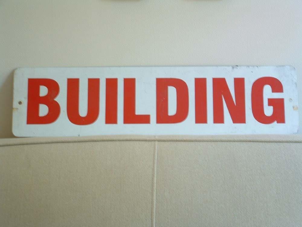 Vintage sign BUILDING