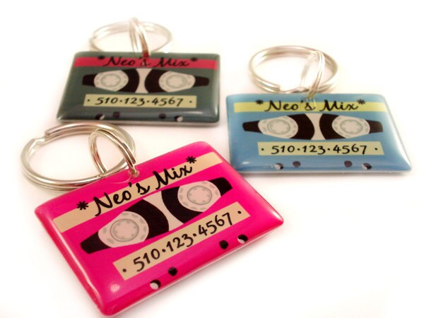 ON SALE  Tape Pet ID Tag by HappyTags on Etsy from etsy.com