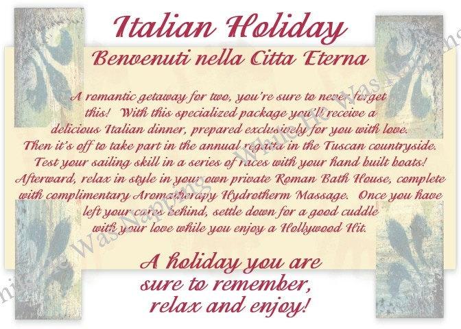 Italian Destination Date Digital Kit