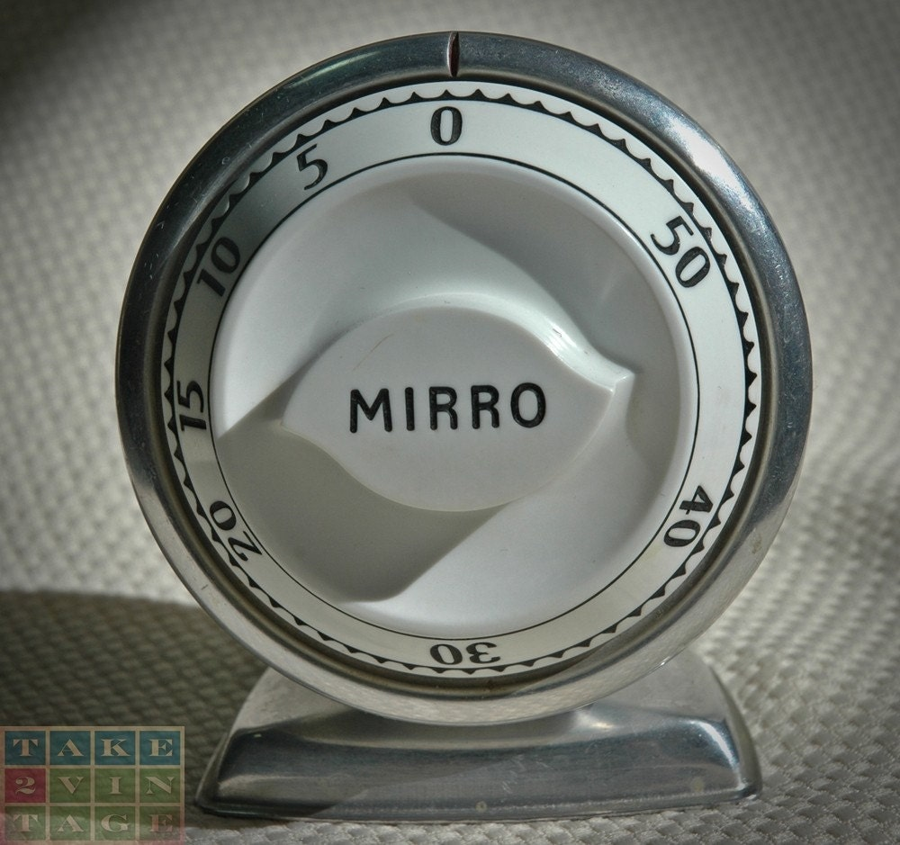 Vintage MIRRO 1950s Aluminum 60 Minute Kitchen Timer
