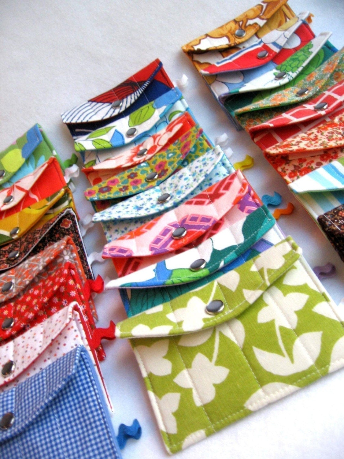 design your own sustainable quilty wallet / business card holder