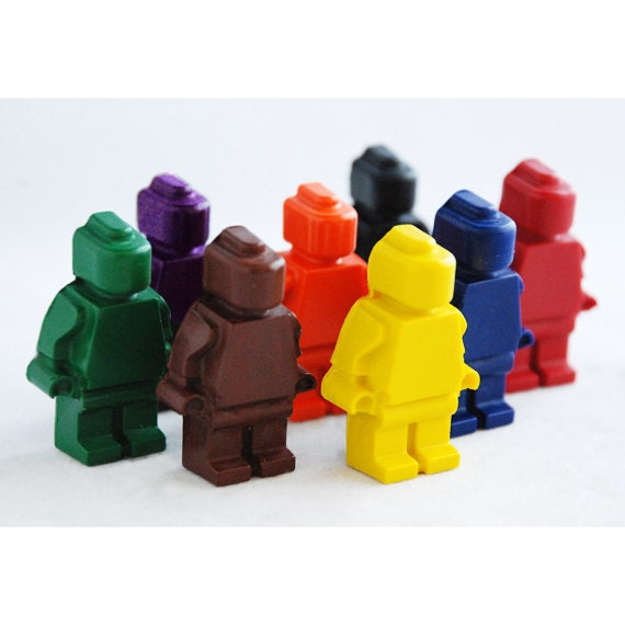 Lego Men Inspired Crayons - Set of 8