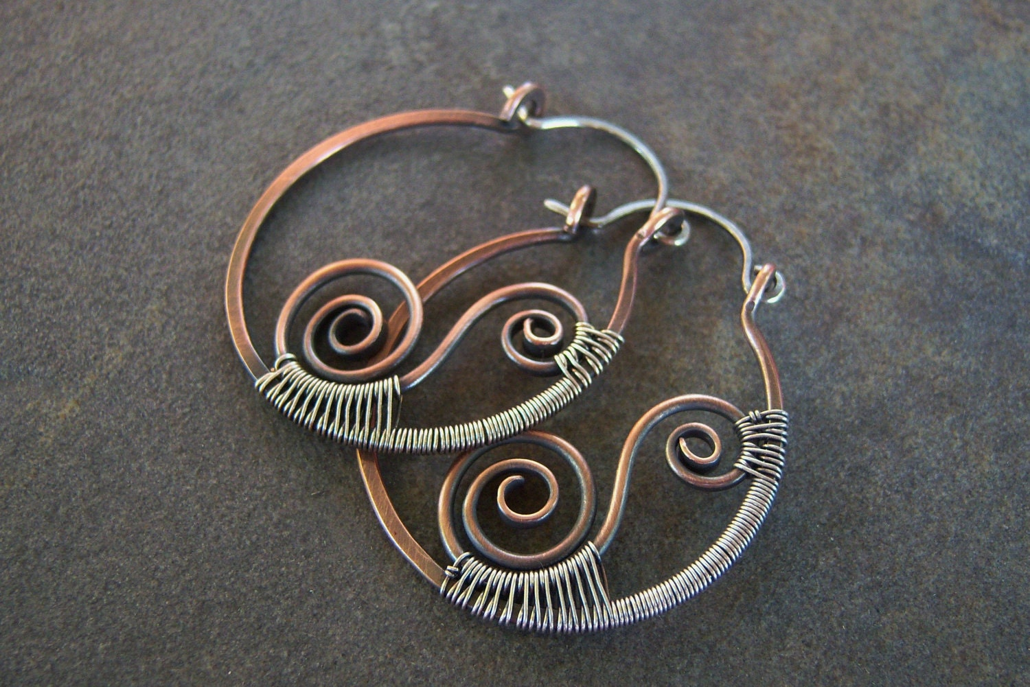Woven Swirls-Hoop-Earrings-Sale.