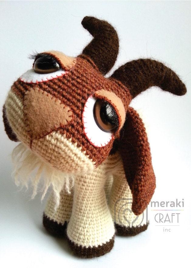 Amigurumi Etsy : Hopscotch the Goat Amigurumi by MerakiCraftInc on Etsy