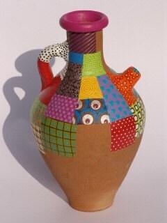 Ручная роспись терракотовый горшок-Одеяло стиль